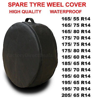 Car Spare Tyre Cover Wheel Bag Storage For Wheel Tyre Size 165/55R14