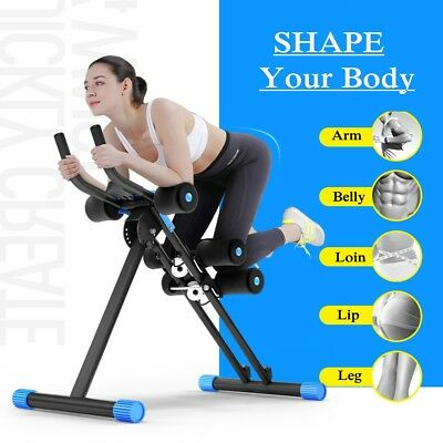 Abdominal Roller Machine AB ABS Gym Muscle Twister Exerciser Trainer Cruncher AU