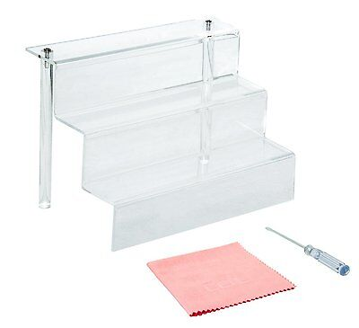 9-Inch W by 6.25-Inch D 3 Step Acrylic Riser Clear by Combination of Life