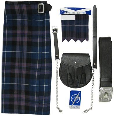 Kit uomo tartan Honour Of Scotland 5 pezzi - Kilt e accessori