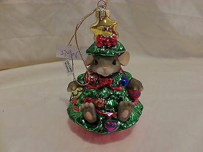 Charming Tails Chris Mouse Tree Blown Glass Glitter Ornament Dean Griff (59)