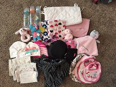Baby Girl Lot Of Miscellaneous Items Newborn 3 Months