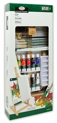 Royal & Langnickel Essentials Oil Art Set w/ Easel and Canvas 22 Piece