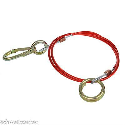 Break-Away Cable for Trailer 1,5 m With Hooks and Ring, Catch ROPE BREAKAWAY