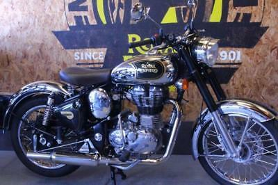 2016 66 Royal Enfield Classic Chrome Efi 593 Miles Only!! Pipe + Lots More!!