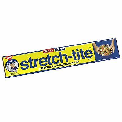 Stretch-Tite Premium Food Wrap With Titecut Slide Cutter, 250 Count