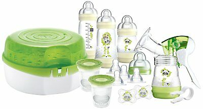 MAM Breastfeeding and Steriliser Starter Set including Breastpump, Microwave and