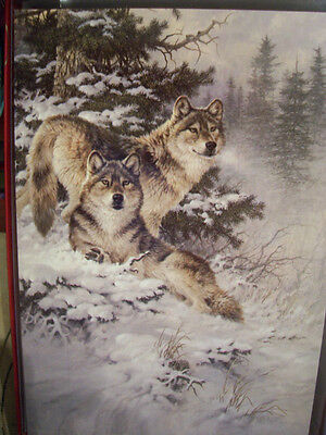 Leanin Tree  Christmas Card Set Beautiful Wolves In Winter 10 Pk New !