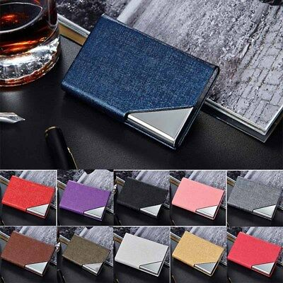 Metal PU Blocking Slim ID Credit Business Card Holder Creative Wallet EDC Case