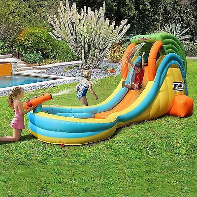 My 1st Inflatable Water Slide Park with Toy Sprayer & Splash Pool BNIB
