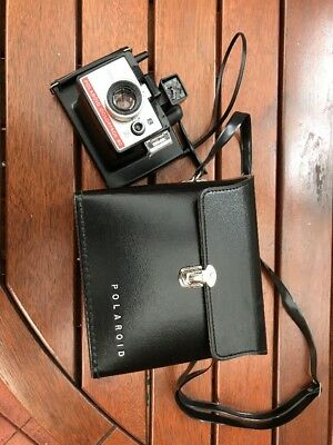 Vintage Polaroid Camera With Hard Carry Case