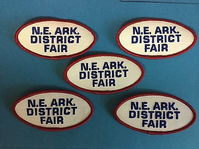 5 Lot North East Arkansas District Fair Hat Hipster Jacket Travel Patches Crest