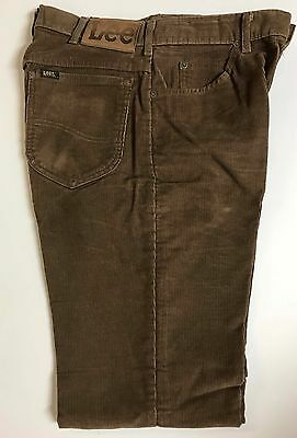 Men's Vintage 80s Lee Cords Jeans Sz 32x34 Whiskers Hipster Back to School