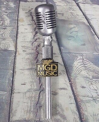 Miller MGD Microphone Music 50's Style Figural Tap Handle 12""