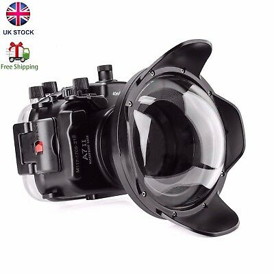 Meikon 40m Waterproof Underwater Camera Housing for Sony A7II A7RII A7SII Camera