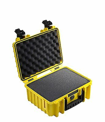 B&W type 3000 Outdoor Case for Camera with Pre Cut Foam - Yellow