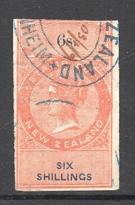New Zealand,UK Revenue 1867/82 Q.Victoria Duty Long Types imperf>6/-Shilling F/u