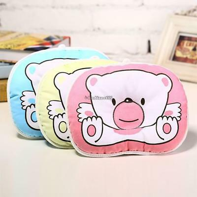 Infant Newborn Baby Anti Roll Pillow Sleep Positioner Prevent Flat Head CushionC