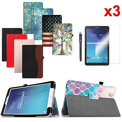 Bundles of Folio Case Stand Cover For Samsung Galaxy Tab E 9.6 Inch Tablet Case