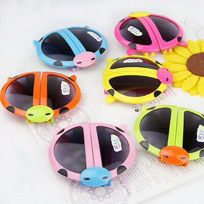 Creative Baby Kids Boys Girls Foldable Cute ladybug UV400 Sunglasses Goggle New