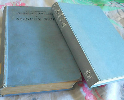 2 vintage nautical books Memoirs of a Buccaneer by Le Golif & Abandon Ship 1938