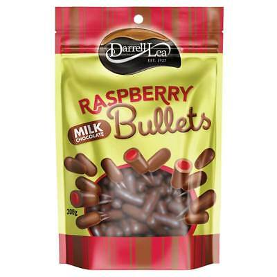Darrell Lea Liquorice Raspberry Milk Chocolate Bullets 200g NEW