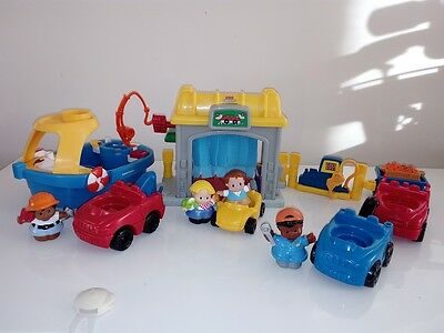 Fisher Price - Educational Musical Little People - Car Wash Garage Boat lot