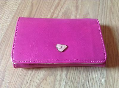 NEW Women's Faux Leather Hot Lady Purse Clutch Wallet Pouch Card Holder Pink Tan