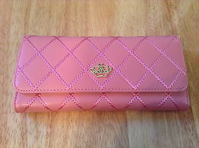 NEW Women's Faux Leather Hot Lady Purse Clutch Wallet Pouch Card Holder Pink