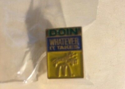 "RARE Vint. ""Doin Whatever It Takes"" ""Founders Day '91"" McDonald's Lapel Pin MIP"
