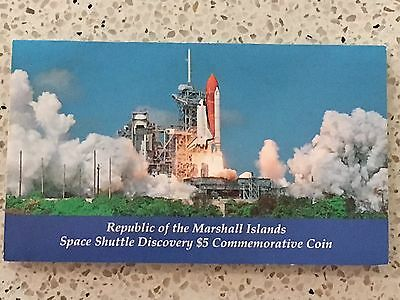 Marshall Islands $5.00 Commemorative Coin Space Shuttle Discovery 1988