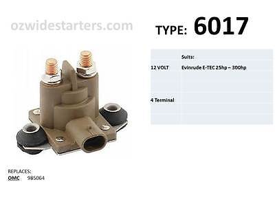 Evinrude starter solenoid suits 25hp - 300hp E-TEC models from 2004 - 2009