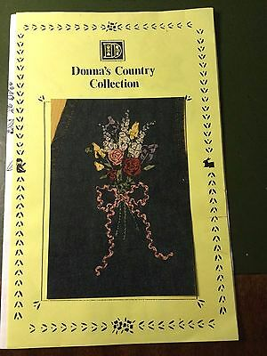 Donna's Country Collection - A bouquet of Flowers pattern for Ribbon Embroidery.