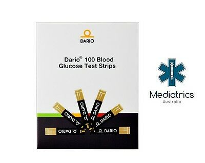 100 x Dario Blood Glucose Test Strips