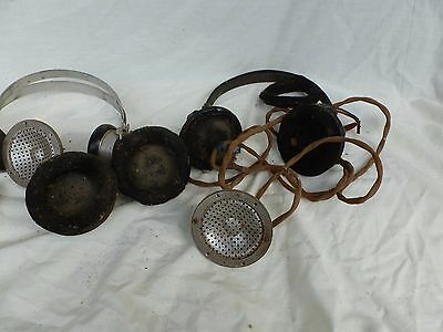 Military headsets old wwII headphones                       Croydon Vic