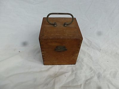 Antique old timber box electrical item
