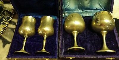 2 Sets Of Silver Goblets  39yrs Old