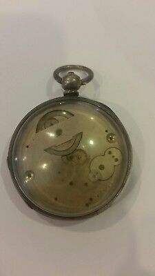 heavy solid silver pocket watch
