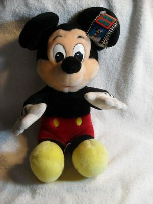 "Disney World Disneyland Mickey Mouse 10"" Plush With Mgm Hollywood Studio's Tag"