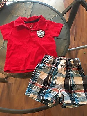 Baby Boys 3-6 Month Summer Clothes Outfit by Child 0f Mine Short/Shirt Set