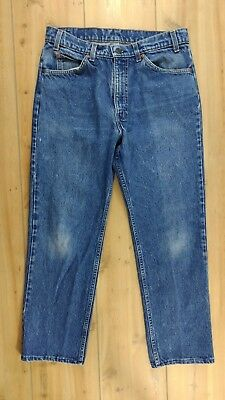 Vintage Levis 509 Orange Tab Straight Leg Jeans Tagged 34x30 Actual 32x28 USA