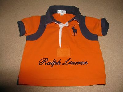Ralph Lauren Baby Polo Shirt Number 3 Age 6 Months