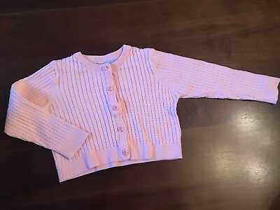 Mothercare Baby Girl Summer Light  Knitted Cardigan 18-24 Months Baby Pink