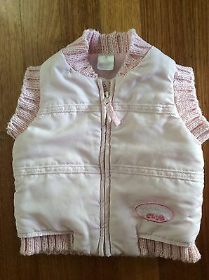 Baby Girls Vest / Sleeveless Jacket - Pink - Size 0
