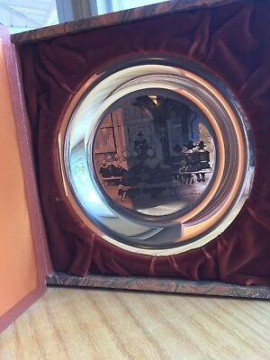 Third Annual Thanksgiving Plate In Solid Sterling Silver By Franklin Mint