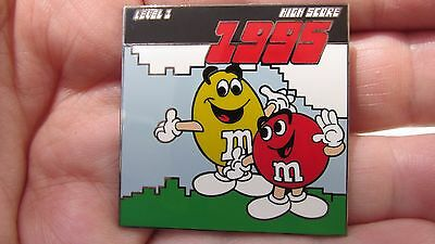 M&M's(R) Pin 1995  - 1 of 3,500 limited edition Red + Yellow Characters