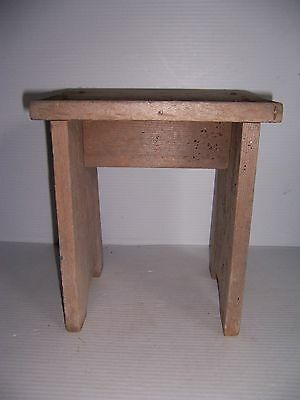 Vintage Small Wooden Stool Bench Country Primitive Farm Decor