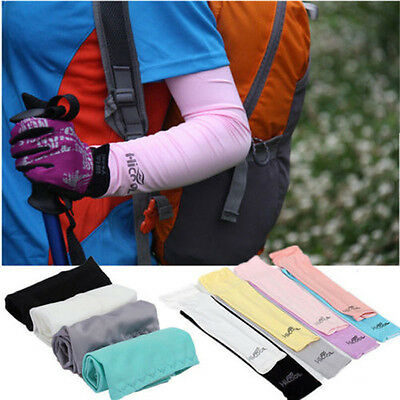 Protective Gear 1Pair Cooling Arm Sleeves Cover Outdoor UV Sun Protection