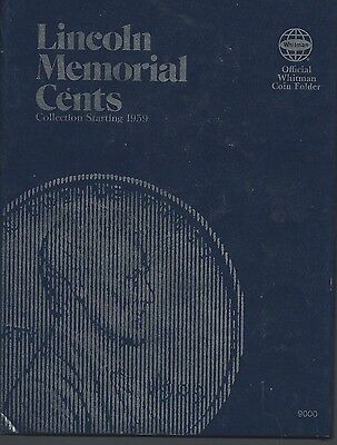 Lincoln Memorial  Cents 1959 to Various Dates Whitman  Folder
