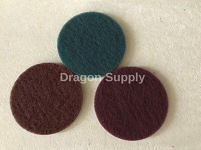 "New 3pc 5"" Hook &Loop Surface Conditioning Disc Sanding Coarse /Medium / Fine"